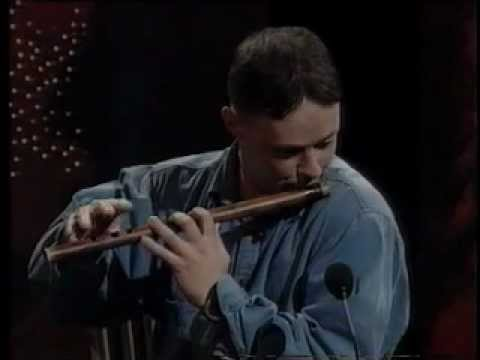 Brian Finnegan playing two reels on flute, 1996
