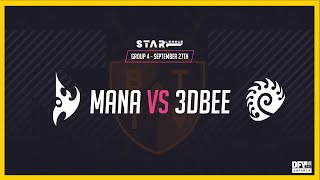 Mana vs 3D Bee [PvZ] DFY Star League Season 1 - Starcraft 2