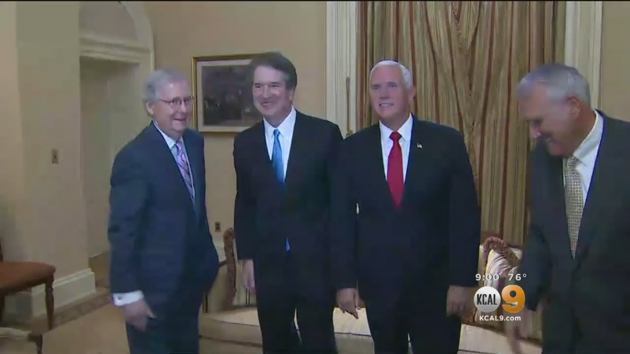 SCOTUS Nominee Kavanaugh Makes The Rounds On Capitol Hill