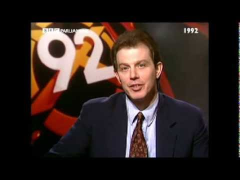 BBC General Election results 1992 Tony Blair and Ken Livingstone spar over Labour's failure