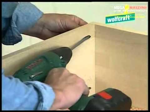 Pokaz pracy z zastosowaniem zestawu do połączeń w drewnie Wolfcraft Undercover Jig
