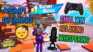 ASMR Gaming 😴 Fortnite Chill Win Relaxing Whispering 🎧🎮 Controller Sounds + Soft Spoken 💤
