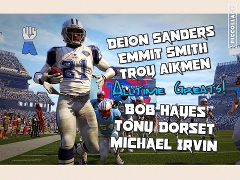 DALLAS COWBOYS ALL TIME GREATEST LEGENDS SMASH THE MADDEN GAUNTLET!! Madden 16 Gautlet