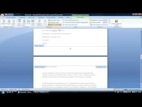 Microsoft Office Word 2007 - tworzenie, edycja sekcji oraz numeracja stron