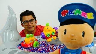 ORBEEZ topları - süper eğlence!. Çizgi film oyuncakları Pepee ve oyuncak tekne!