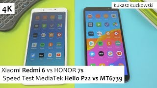 Xiaomi Redmi 6 vs HONOR 7s ❗❗❗ | Speed Test | MediaTek Helio P22 vs MT6739