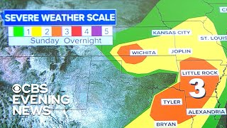 28 million people to be affected by severe weather in central U.S.