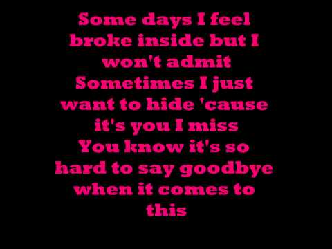 Hurt - Christina Aguilera Lyrics video