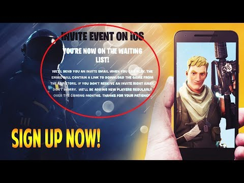 HOW TO PLAY FORTNITE BATTLE ROYALE ON IOS & ANDROID EARLY!