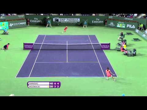 Tennis Drop Shot Disguise - Anna Ivanovic & Caroline Wozniacki at the BNP Paribas Open