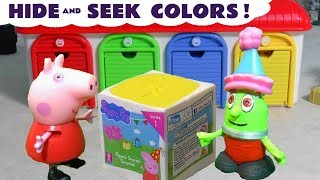Learn Colors and Hide and Seek with the funny Rascal Funlings and Peppa Pig TT4U