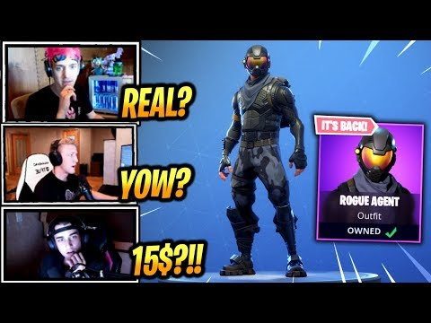 STREAMERS REACT *EXCLUSIVE* ROGUE AGENT IS BACK!! -  Fortnite Epic & Funny Moments (Fortnite BR)