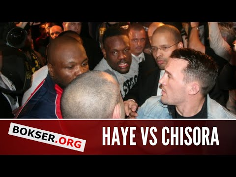 Dereck Chisora brawls with David Haye at Klitschko vs Chisora post-fight press conference