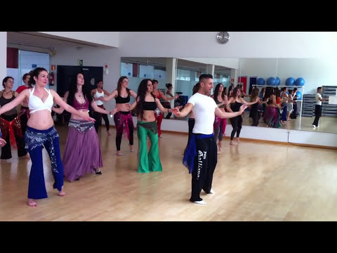 Bellydance Workshop with Zadiel in Spain June 2012 | Choregraphie to Latin Tabla Solo by Zadiel