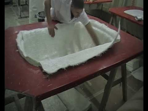 Fibreglass vacuum moulding.