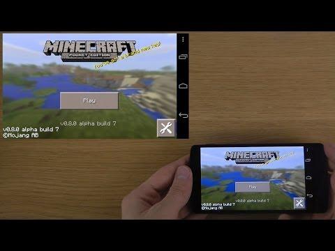 NEW Minecraft Pocket Edition 0.8.0 Beta Alpha Build 7 Google Nexus 5 Android 4.4.1 KitKat Gameplay