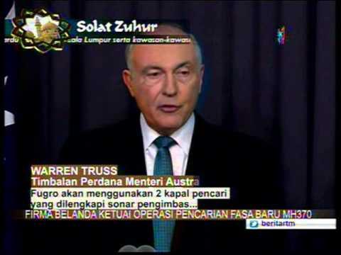 6 Ogos - FIRMA BELANDA KETUAI OPERASI CARIAN FASA BARU MH370 :  WARREN TRUSS