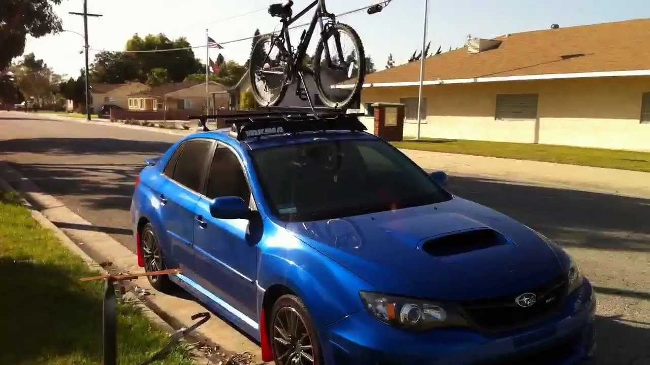 2011 SUBARU WRX ROOF RACK AND FREEWAY DRIVE - YouTube