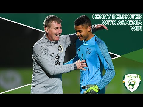 #IRLU21 INTERVIEW | Stephen Kenny delight with 1-0 win over Armenia