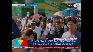 Libing na puno ng tugtugan at sayawan, viral online