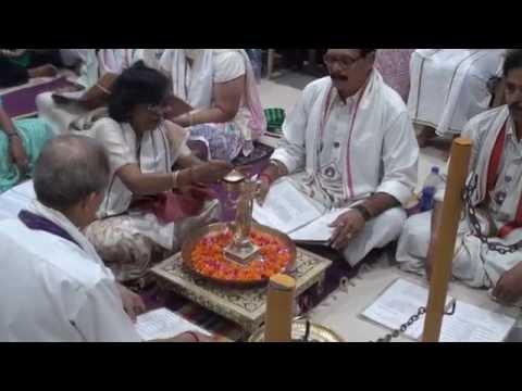 Shree Rudrabhishek seva at Shree Aniruddha Gurukeshetram - 24 Nov 2014.