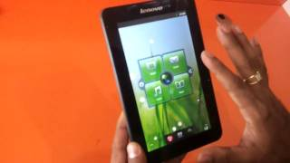 Lenovo A1 7 tablet India white black video review unboxing in hd