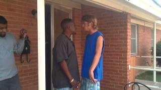 Dumbass white boy actin brave...