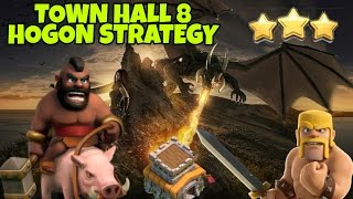 Download HOGON : HOGS + DRAGONS (NO BOWLERS)   BEST TH8 WAR ATTACK STRATEGY  CLASH OF CLANS 2017 3Gp Mp4