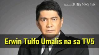 Erwin Tulfo Umalis na sa TV5 at Radyo5, Lilipat sa PTV4