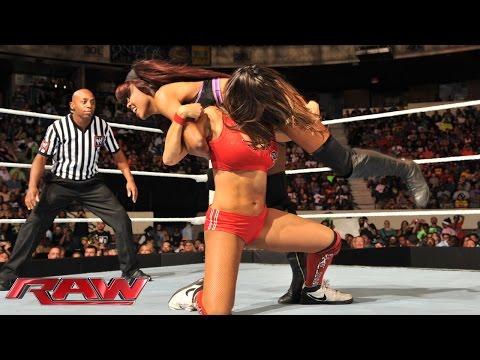 Nikki Bella vs. Alicia Fox & Cameron - 2-on-1 Handicap Match: Raw, July 14, 2014