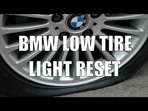 Reset BMW 335i TPMS Low Tire Warning Light Video