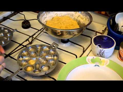 Рецепт орешков со сгущенкой в орешнице для плиты