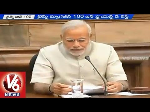 PM Narendra Modi and Arvind Kejriwal got berths in TIME 100 reader's poll-2015 (15-04-2015)