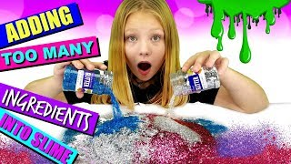ADDiNG TOO MUCH iNGREDiENTS INTO SLiME!!! Adding Too Much Of Everything Into SLIME!!!