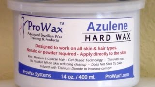 Azulene Hard Wax Demo/Review from ProWax