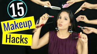 15 Makeup HACKS You've NEVER Seen Before!