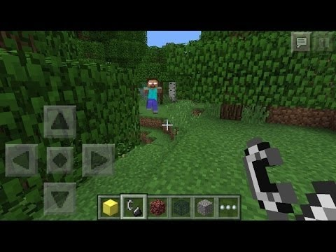How to summon Herobrine in Minecraft Pocket Edition (Follow me on Twitter @iProZat please!)