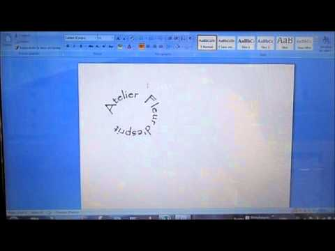 Comment faire un texte en rond avec word youtube for Dans word