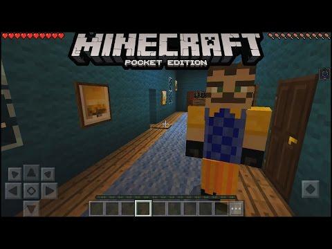 Minecraft pe Hello Neighbour Addon + Modded Map   minecraft pe hello neighbour map   mcpe 1.0