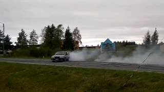 Brutal 650+ hp Volvo 740 2JZ Burnout