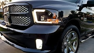 New 2018 Oled Tube Headlights/Taillights for your Ram 1500 09-18