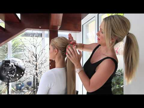Tutorial - Quickly Attach a Wrap Around Ponytail Hair Extension Video