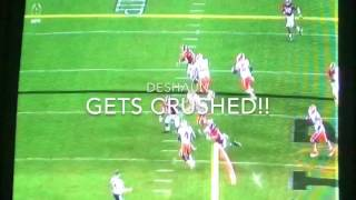 Deshaun Watson [HD] gets a Big Hit in National Championship vs Alabama Must See hard to watch!!