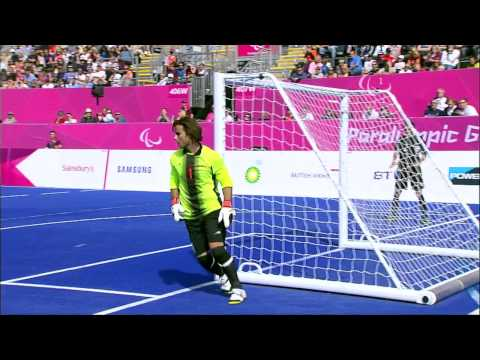 Football 5-a-side - IRI vs ARG - Men's - B1 Preliminaries- 2nd Half - London 2012 Paralympic Games