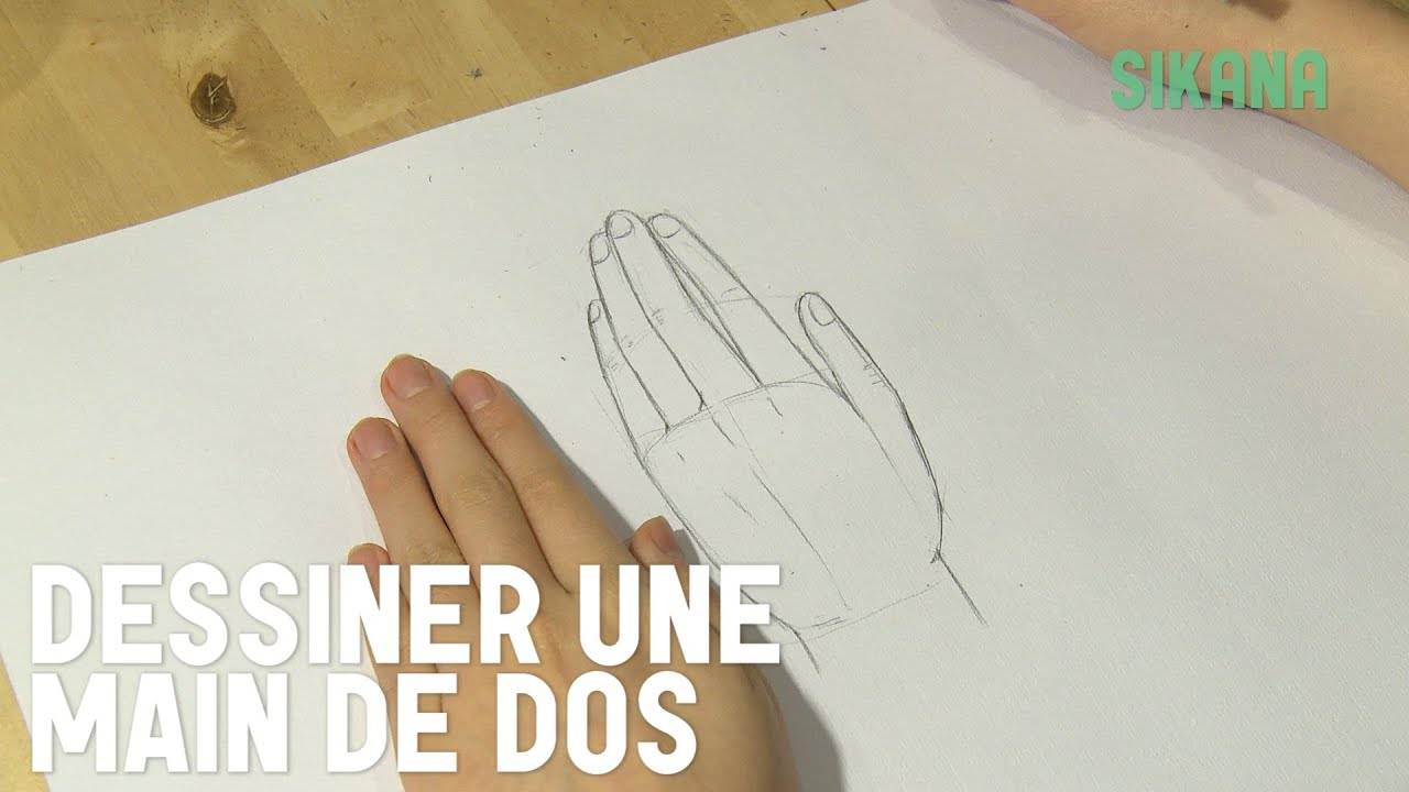 Dessin dessiner le dos de la main hd youtube - Dessin de mains ...