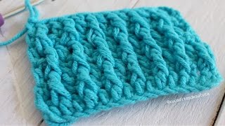Punto Alto Doble Crochet en ¡ RELIEVE !  DIY I cucaditasdesaluta