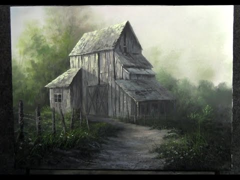 Paint with Kevin Hill - Old Weathered Barn