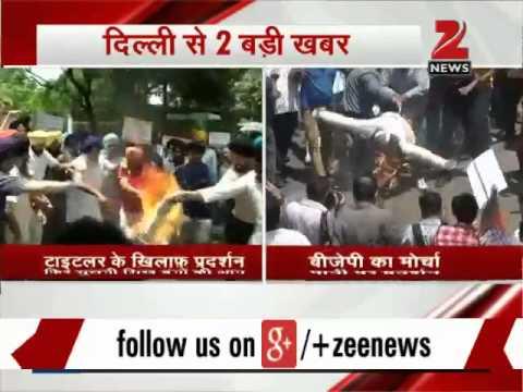 Delhi: Sikhs group stage protest against Jagdish Tytler