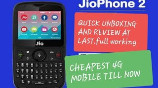 Jio Phone 2.. 4G Phone just at 2999/- Quick Unboxing! CHEAPEST 4G PHONE