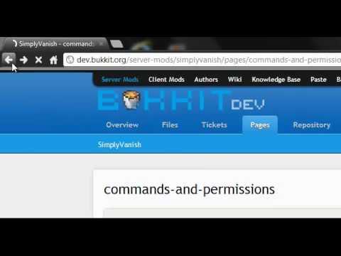 Bukkit- How To Download & Install The SimplyVanish Plugin